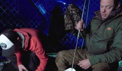 Spearing Alaskan Whitefish