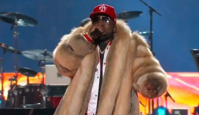 PETA Slams Super Bowl Halftime Performer For Wearing Fur Coat