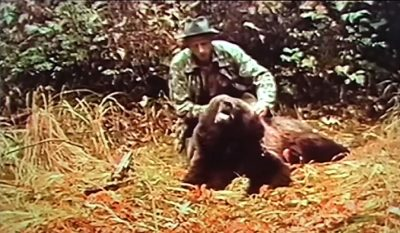 Fred Bear Hunts Kodiak Bear